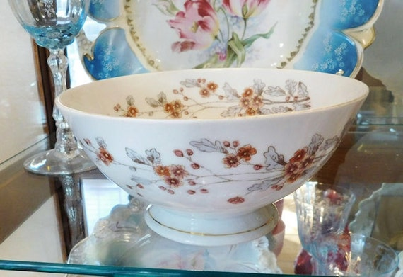 1800s Antique Ironstone Waste Bowl / Victorian