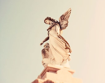 new orleans art cemetery photography statue fine art architecture photography angel home decor wall art Angel no. 4