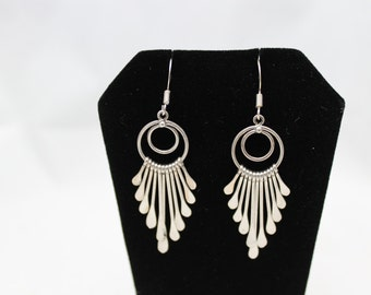 Sterling Silver Paddle Earrings