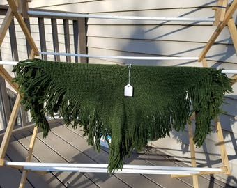 Child's Wool Hunter Green Poncho