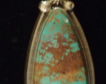 Turquoise Pendant in Sterling