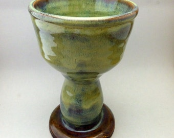 Green Kiddush Cup