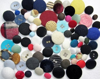 The Covered Button Assortment: A Variety Mix of 75 Vintage-to-Contemporary Buttons