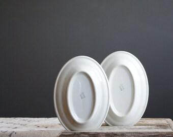 White Restaurant Platters | Trenle China | 8 inch Serving Plates | Industrial Kitchen Decor | White Kitchen | Oval Plates