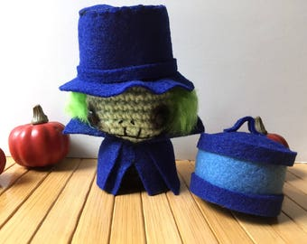 Hatbox Ghost Moon Bun - Bunny Rabbit Amigurumi - October Create a Day Challenge Doll