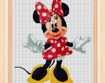 Minnie mouse, cross stitch disney, cross stitch Minnie, disney pattern, Minnie cross stitch, disney cross stitch, disney pattern, disney