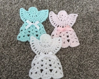 Crocheted Guardian Angel Appliques