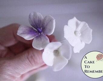 Gumpaste Hydrangeas Four Ways digital tutorial for cake decorating, how to make gumpaste hydrangeas tutorial, cake tutorial PDF download