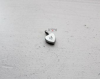 Cremation Urn Charm | Hand Stamped Cremation Jewelry | Cremation Urn Heart | Memorial Jewelry | In Loving Memory | Personalized Jewelry