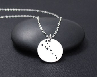 Taurus Constellation Necklace Sterling Silver, Taurus Necklace, Zodiac Necklace, Zodiac Jewelry