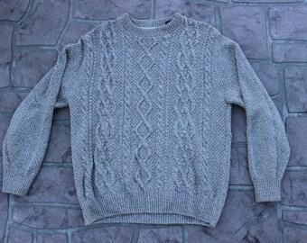 Cream Oscar De La Renta Sweater // Medium // Mens