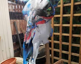 Bulls skull paint dipped
