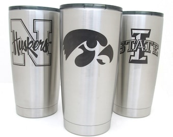 Sports Team Stainless Steel Tumbler - 20 oz Insulated Cup - Choose Your Team - Pro, College, Minor Leagues
