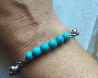 Turquoise Beaded Stacking Bracelet
