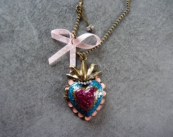 Heart Necklace and bow