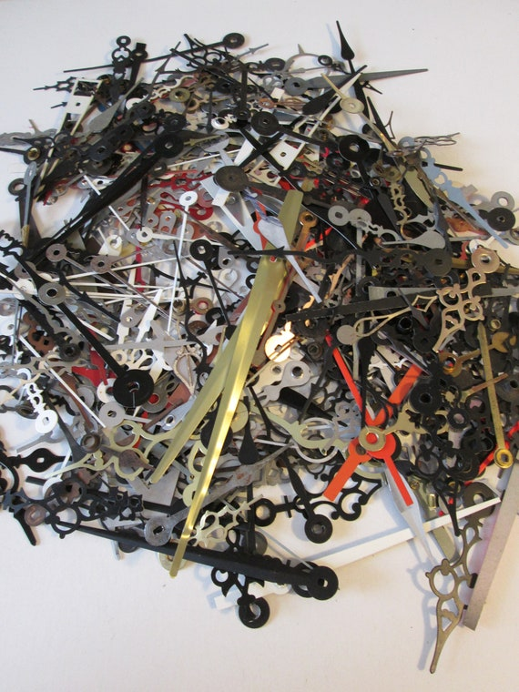 1 Pound of Assorted Vintage and New Clock Hands - for your Clock Projects, Jewelry Making, Steampunk Art  Etc...