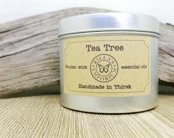 Tea Tree - bougie de voyage de mèche en bois