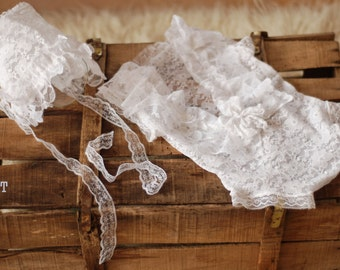 baby romper, newborn lace, lace romper, new romper, photography prop lace, newborn girl, ready to ship