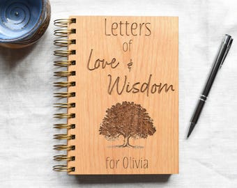 Encouragement Gift Love Wisdom Journal. Gift from Mom to Daughter. To Bride, To Groom on Wedding Day.