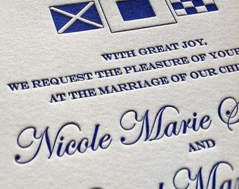 Miss Gordon Letterpress Wedding Invitation, Elegant Wedding Invitation Set, Letterpress Wedding Invites, Wedding Invitation Suite, Sample
