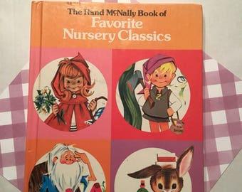 Vintage Rand McNally Book of Favorite Nursery Classics- Oversized 1978 Edition!!