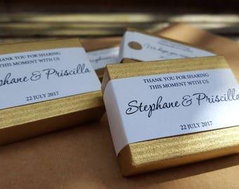 25 soap wedding favors,50th anniversary gifts, mini guest soaps, mini custom soap favors, bridal shower soap favors,golden favors,VEGAN soap