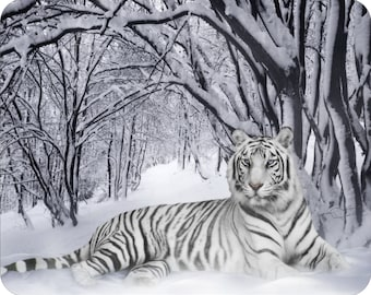 MOUSE PAD - * Lone White Tiger * Computer Mousepad NEW mat mouse pad