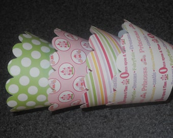 Princess Cupcake Wrappers- Set of 12 Birthday Party