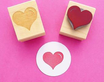 Love Heart Rubber Stamp - DIY Wedding - Handmade Wedding Invitation Stamp - Save The Date -  Wedding Stationery - Valentines Stamp Stamper