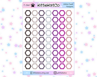 F068 - Small Hexagons Stickers
