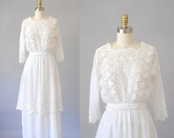 Isobel robe |  jupe vintage des années 1910 & blouse | Edwardian robe