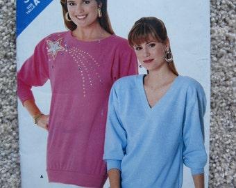 UNCUT Misses Top - Butterick Pattern 5706 - Vintage 1987