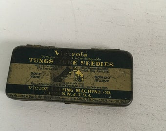 Vintage record needle tin Tungs-Tone His masters voice Victrola victor talking machine Camden New Jersey
