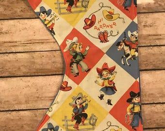 Cowboy Western Print Burp Cloth-Burp Cloths-Cowboy Burp Cloth-Boy Burp Cloth