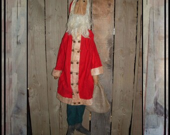 Instant Download pattern for tall rag doll Santa soft sculpted HAFAIR ofg faap Lucys Lazy Dayz 504