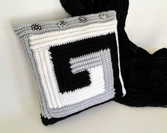 Crochet Pattern - Modern Pillow Crochet Pattern #601 - Instant Download PDF