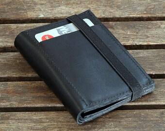 Black Leather Wallet,Portemonnaie, Leather Wallets For Men
