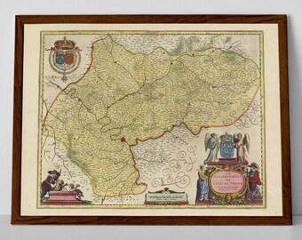 Paris Region, France   Compiegne, Soissons, Saint-Denis, Meaux, Versailles, Paris Map, Old Map, Antique Paris, Coulmmiers, French