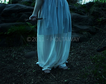 Fine art photography, on forex, Limited Edition, woodland lady- 'Clench'