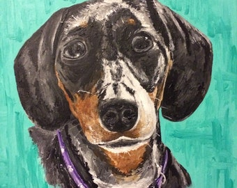 Commission pet portraits in acrylic