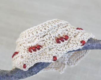 Beaded crochet jewelry, cuff boho bracelet,  beaded crochet cuff, bohemian  jewelry