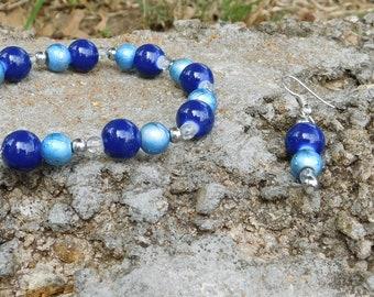 Got The Blues? Bracelet & Earring Set