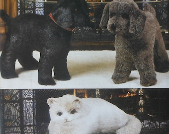 Dog and Cat Doll Sewing Pattern UNCUT Vogue 8342