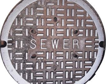 "DOORMAT - NYC ""SEWER"" Sewer Cover Doormat - Original Photography"