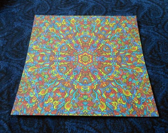 "Blotter Art ""Mosaic"" Perforated Psychedelic Collection Paper Acid Art"