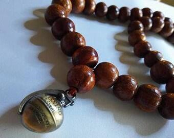 Men's Walnut Necklace for Meditation