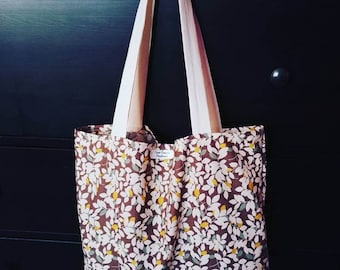 Brown leaves recycled cotton Totebag