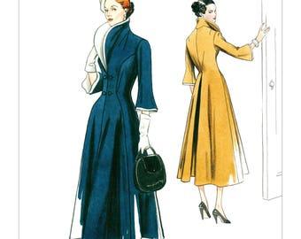 Vogue Pattern V9280 Misses' Wide-Collar, Fit-and Flare Dress