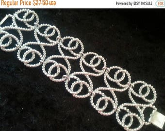 ON SALE Vintage Chunky Wide Bracelet 1960's Statement Collectible Retro Jewelry