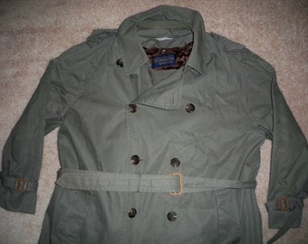 Vintage RALPH LAUREN Polo University Club Men's Trench Coat Overcoat Double Breasted Size 44